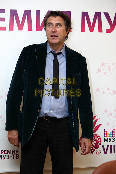 Bryan Ferry.The award of Muz TV Press conference, Moscow, Russia..June 5th, 2009.half length black tie blue shirt jacket  .CAP/PER/SB.©SB/PersonaStars/CapitalPictures