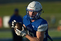 NWA Democrat-Gazette/BEN GOFF @NWABENGOFF<br /> Andrew McGlynn, Rogers senior, catches a pass Friday, Aug. 11, 2017, during Rogers practice at Whitey Smith Stadium in Rogers.