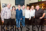 Enjoying a social with comedian Pat Shortt after the premier of his new show 'Hows Tings' which opened to a full house on Friday in Tech Amergin, Waterville, the show was a huge success, pictured here l-r; Mike Sugrue, Elma Shine, Pat Shortt, Gerald Sugrue, Ann Landers, Mickey Dennehy & Vincent Sugrue.