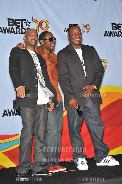 Heads of State - Johnny Gill, Ralph Tresvant & Bobby Brown - at the 2009 BET Awards (Black Entertainment Television) at the Shrine Auditorium..June 28, 2009  Los Angeles, CA.Picture: Paul Smith / Featureflash