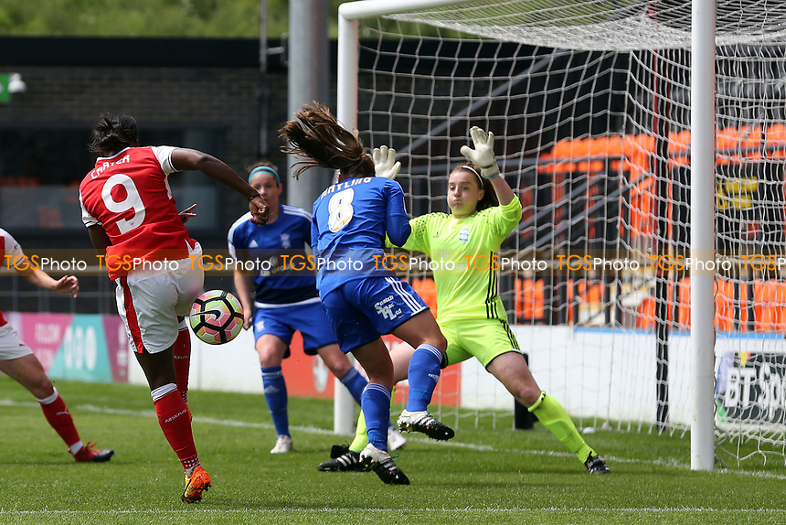 Danielle Carter of Arsenal Ladies goes close during Arsenal Ladies vs Birmingham City Ladies, FA Women's Super League FA WSL1 Football at the Hive Stadium on 20th May 2017