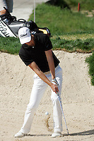 Fredrik Andersson Hed chips in out of the bunker on the 18th hole in 3rd Round of the Open de Espana in Madrid...Photo NEWSFILE/Eoin Clarke.(Photo credit should read Eoin Clarke/NEWSFILE)....This Picture has been sent you under the condtions enclosed by:.Newsfile Ltd..The Studio,.Millmount Abbey,.Drogheda,.Co Meath..Ireland..Tel: +353(0)41-9871240.Fax: +353(0)41-9871260.GSM: +353(0)86-2500958.email: pictures@newsfile.ie.www.newsfile.ie.FTP: 193.120.102.198..
