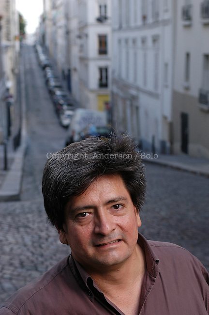 Chilian author Mauricio Electorat in Paris.