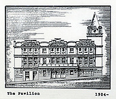 The Pavilion Theatre, Glasgow, a copy of one of the images gifted by actor Tony Roper to the Britannia Panoptican in Glasgow, after he presented the long-lost variety music hall with some ink drawings of old Glasgow theatres. The framed collection was given to Roper by the family of Ricki Fulton - picture by Donald MacLeod 05.03.09