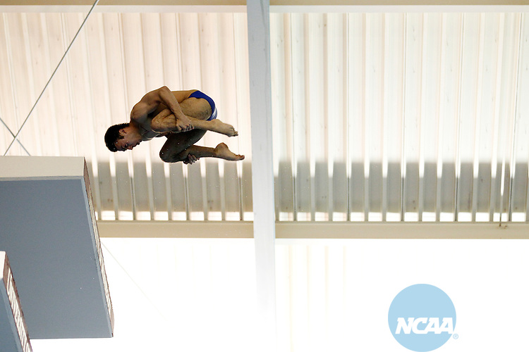26 MAR 2011:  Nick McCrory of Duke University competes in the Platform Diving Finals during the Division I Men's Swimming and Diving Championship held at the University of Minnesota Aquatics Center in Minneapolis, MN. McCrory  had 548.90  points to win the event.  Carlos Gonzalez/ NCAA Photos