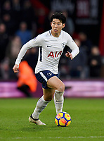 Tottenham Hotspur's Son Heung-Min<br /> <br /> Bournemouth 1 - 4 Tottenham Hotspur<br /> <br /> Photographer David Horton/CameraSport<br /> <br /> The Premier League - Bournemouth v Tottenham Hotspur - Sunday 11th March 2018 - Vitality Stadium - Bournemouth<br /> <br /> World Copyright &copy; 2018 CameraSport. All rights reserved. 43 Linden Ave. Countesthorpe. Leicester. England. LE8 5PG - Tel: +44 (0) 116 277 4147 - admin@camerasport.com - www.camerasport.com