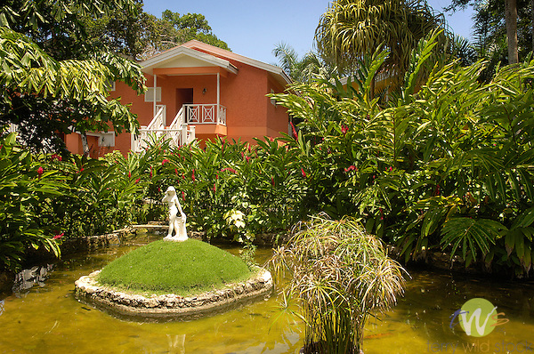 Manor House terrace and architectural details, Sandals, Ocha Rios,