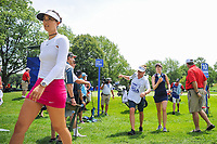 Michelle Wie (USA) and Sandra Gal (DEU) make their way to the 11th tee during Thursday's round 1 of the 2017 KPMG Women's PGA Championship, at Olympia Fields Country Club, Olympia Fields, Illinois. 6/29/2017.<br /> Picture: Golffile | Ken Murray<br /> <br /> <br /> All photo usage must carry mandatory copyright credit (&copy; Golffile | Ken Murray)