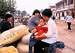China 1990s. All Boys Liufu village a rural community Anhui Province abnormally high ratio of young males result of One Child Policy. 1998 <br /> The Chinese government One Child Policy was introduced to controle the size of the population. As a result many more boys were born. Girls were aborted before birth or died shortly after. Girls were considered to be a much greater expense on the family, especially in rural communities. 97.5% of all abortions were on female fetuses.