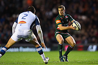 George Ford of Leicester Tigers in possession. European Rugby Champions Cup match, between Leicester Tigers and Castres Olympique on October 21, 2017 at Welford Road in Leicester, England. Photo by: Patrick Khachfe / JMP