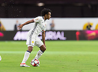 Glendale, AZ - Saturday June 25, 2016: Juan Cuadrado during a Copa America Centenario third place match match between United States (USA) and Colombia (COL) at University of Phoenix Stadium.