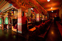 Inside a Buddhist  Monastery in Sikkim India