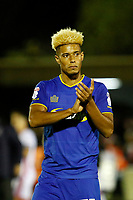 AFC Wimbledon's Lyle Taylor applauds the fans during the Sky Bet League 1 match between AFC Wimbledon and MK Dons at the Cherry Red Records Stadium, Kingston, England on 22 September 2017. Photo by Carlton Myrie / PRiME Media Images.