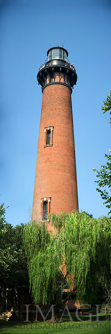 The Currituck Beach Lighthouse. The Currituck lighthouse is one of the few North Carolina coastal lighthouses that visitors can still climb to the top. The lighthouse is located in Corolla in the Outer Banks of North Carolina. (Photo by Artisan Photography Group/Chris English)
