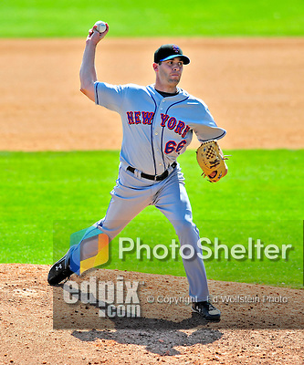8 March 2009: New York Mets' pitcher Matt DeSalvo in action during a Spring Training game against the Washington Nationals at Space Coast Stadium in Viera, Florida. The Nationals defeated the Mets 8-3 in the Grapefruit League matchup. Mandatory Photo Credit: Ed Wolfstein Photo