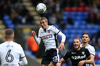Bolton Wanderers' Stephen Darby heads forwards<br /> <br /> Photographer Andrew Kearns/CameraSport<br /> <br /> The EFL Sky Bet Championship - Bolton Wanderers v Leeds United - Sunday 6th August 2017 - Macron Stadium - Bolton<br /> <br /> World Copyright &copy; 2017 CameraSport. All rights reserved. 43 Linden Ave. Countesthorpe. Leicester. England. LE8 5PG - Tel: +44 (0) 116 277 4147 - admin@camerasport.com - www.camerasport.com