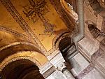 Hagia Sophia Arch Mosaics - Gold mosaics on the arches of Hagia Sophia (Aya Sofya) basilica, Sultanahmet, Istanbul, Turkey
