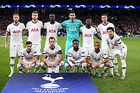 Tottenham line up before Tottenham Hotspur vs Olympiacos FC, UEFA Champions League Football at Tottenham Hotspur Stadium on 26th November 2019