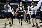 18 February 2016: Notre Dame's Madison Cable (22). The Wake Forest University Demon Deacons hosted the University of Notre Dame Fighting Irish at Lawrence Joel Veterans Memorial Coliseum in Winston-Salem, North Carolina in a 2015-16 NCAA Division I Women's Basketball game. Notre Dame won the game 86-52.