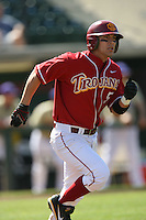Hector Rabago of the USC Trojans during game against the  Western Carolina Catamounts at Dedeaux Field in Los Angeles,CA.  Photo by Larry Goren/Four Seam Images