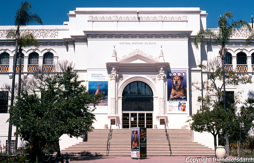 San Diego: Balboa Park, Natural History Museum, 1933. Architect William Templeton Johnson.