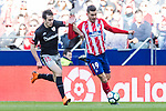 Lucas Hernandez of Atletico de Madrid (R) fights for the ball with Inigo Lekue of Athletic Club de Bilbao (L) during the La Liga 2017-18 match between Atletico de Madrid and Athletic de Bilbao at Wanda Metropolitano  on February 18 2018 in Madrid, Spain. Photo by Diego Souto / Power Sport Images