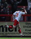 John Mousinho of Stevenage celebrates scoring the winning goal. - Stevenage v Carlisle United - npower League 1 - Lamex Stadium, Stevenage - 17th April, 2012. © Kevin Coleman 2012
