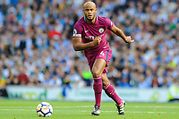 Vincent Kompany of Manchester City (4)  during the EPL - Premier League match between Brighton and Hove Albion and Manchester City at the American Express Community Stadium, Brighton and Hove, England on 12 August 2017. Photo by Edward Thomas / PRiME Media Images.