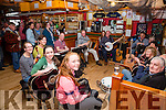 A great gathering of musicians at the Sunday morning Music Session in The Bridge Bar, Portmagee - part of the Portmagee Set Dancing Weekend which is celebrating its 25th in operation.
