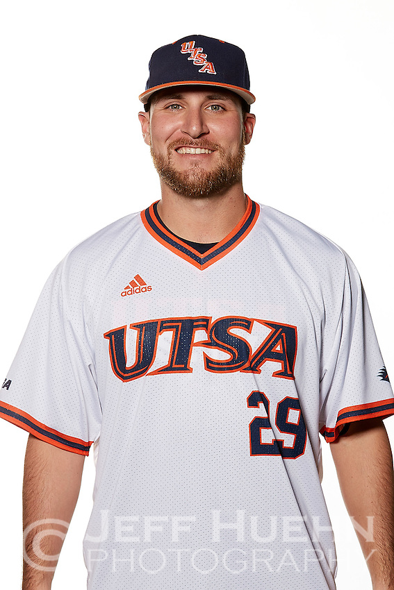 SAN ANTONIO, TX - JANUARY 11, 2017: The University of Texas at San Antonio Roadrunners Baseball Team and Individual photos. (Photo by Jeff Huehn)