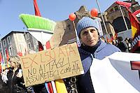 Roma, 11 Marzo 2011.Sciopero e corteo del sindacato autonomo Unione Sindacale di Base