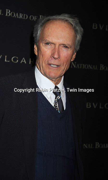 Clint Eastwood..at The 2008 National Board of Review of Motion Pictures Awards Gala on January 14, 2009 at Cipriani's 42nd Street. The event was sponsored by Bulgari. ....Robin Platzer, Twin Images
