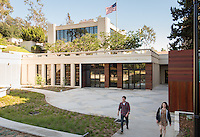 Exterior of the newly remodeled Hameetman Career Center (HCC), which is home to Career Services, National and International Awards and Pre-Health Advising offices. March 25, 2016.<br />