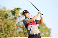 Lucas Bjerregaard (DEN) on the 4th during the 1st round of the 2017 Portugal Masters, Dom Pedro Victoria Golf Course, Vilamoura, Portugal. 21/09/2017<br /> Picture: Fran Caffrey / Golffile<br /> <br /> All photo usage must carry mandatory copyright credit (&copy; Golffile | Fran Caffrey)