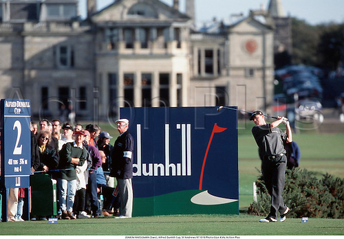 JOAKIM HAEGGMAN (Swe), Alfred Dunhill Cup, St Andrews 971019 Photo:Glyn Kirk/Action Plus...1997.Golf.Sponsorship.Clubhouse.golfer golfers