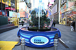 """Times Square Alliance unveiled its first season of Broadway """"Show Globes"""", """"Dear Evan Hansen"""" in Times Square on November 04, 2019 in New York City."""