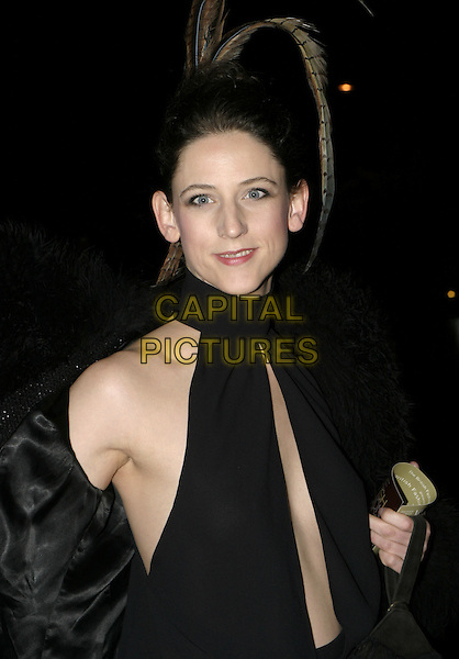 MARIA GRACHVOGEL.The British Fashion Awards, Victoria and Albert (V&A) Museum, London, November 2nd 2004..half length black halterneck top plunging neckline.Ref: AH.www.capitalpictures.com.sales@capitalpictures.com.©Capital Pictures.