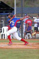 Francis Villaman participates in the International Prospect League Showcase at the New York Yankees academy in Boca Chica, Dominican Republic on January 24, 2014 (Bill Mitchell)