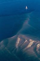 France, Gironde (33),Bassin d'Arcachon, le banc d'Arguin , réserve naturelle  , vue aérienne //  France, Gironde, Bassin d'Arcachon, The Banc d'Arguin, Arguin bank,  - aerial view