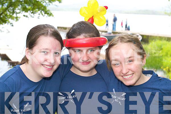 SMILES: Niamh ORaw, Meadbh McSweeney, Michelle.Griffin (all Flesk Valley) enjoying the Killarney Regatta.at OMahonys Point last Sunday.