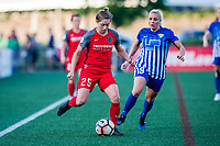 Boston, MA - Friday May 19, 2017: Meghan Klingenberg and Adriana Leon during a regular season National Women's Soccer League (NWSL) match between the Boston Breakers and the Portland Thorns FC at Jordan Field.