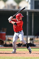 Los Angeles Angels of Anaheim outfielder Caleb Adams (21) during an Instructional League game against the Milwaukee Brewers on October 9, 2014 at Tempe Diablo Stadium Complex in Tempe, Arizona.  (Mike Janes/Four Seam Images)