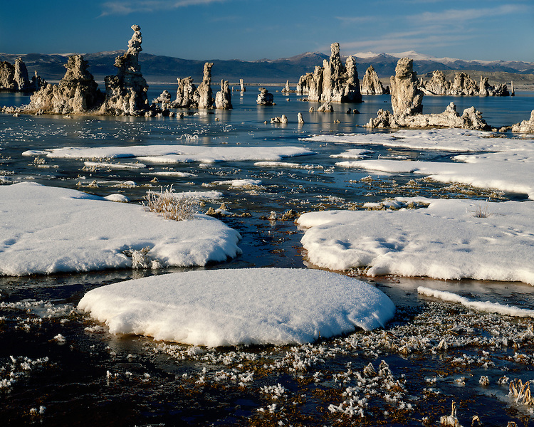 Winter scene at Mono Lake, CA