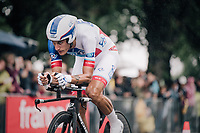 a focused Jacopo Guarnieri (FRA/FDJ) on course<br /> <br /> 104th Tour de France 2017<br /> Stage 1 (ITT) - D&uuml;sseldorf &rsaquo; D&uuml;sseldorf (14km)