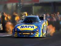 Apr 21, 2017; Baytown, TX, USA; NHRA funny car driver Ron Capps during qualifying for the Springnationals at Royal Purple Raceway. Mandatory Credit: Mark J. Rebilas-USA TODAY Sports