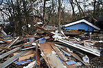 U.S East Coast damage left by Hurricane Sandy in Staten Island NYC