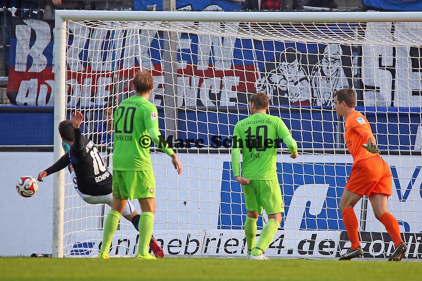 Andre Schembri (FSV) tritt neben den Ball - FSV Frankfurt vs. FC Erzgebirge Aue, Frankfurter Volksbank Stadion