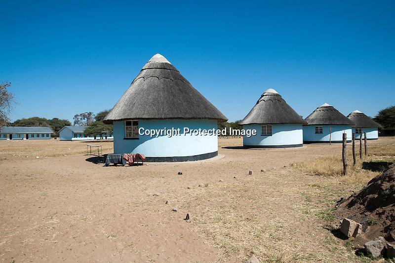 School and Teacher Houses in Rural Village of Ziga in Zimbabwe