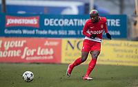 Yannis N'Gakoutou-Yapende of AS Monaco FC Youth during the UEFA Youth League round of 16 match between Tottenham Hotspur U19 and Monaco at Lamex Stadium, Stevenage, England on 21 February 2018. Photo by Andy Rowland.