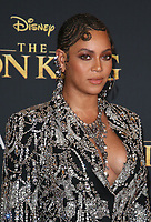 HOLLYWOOD, CA - JULY 9: Beyonce at The Lion King Film Premiere at El Capitan Theatre in Hollywood, California on July 9, 2019. <br /> CAP/MPIFS<br /> ©MPIFS/Capital Pictures